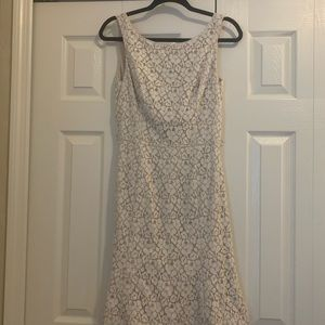 Creme and white a-line lace dress
